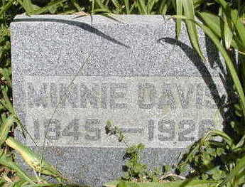 DAVIS, MINNIE - Linn County, Iowa | MINNIE DAVIS