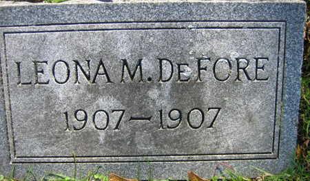 DE FORE, LEONA M. - Linn County, Iowa | LEONA M. DE FORE