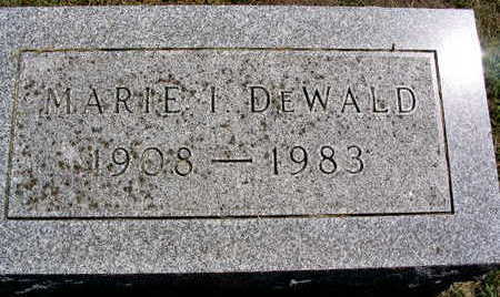 DE WALD, MARIE I. - Linn County, Iowa | MARIE I. DE WALD