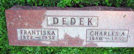 DEDEK, CHARLES A. - Linn County, Iowa | CHARLES A. DEDEK