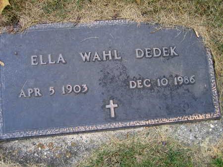 WAHL DEDEK, ELLA - Linn County, Iowa   ELLA WAHL DEDEK