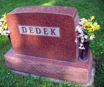 DEDEK, FAMILY STONE - Linn County, Iowa | FAMILY STONE DEDEK