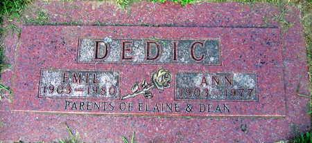 DEDIC, EMIL - Linn County, Iowa | EMIL DEDIC