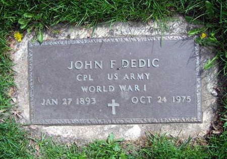 DEDIC, JOHN F. - Linn County, Iowa | JOHN F. DEDIC