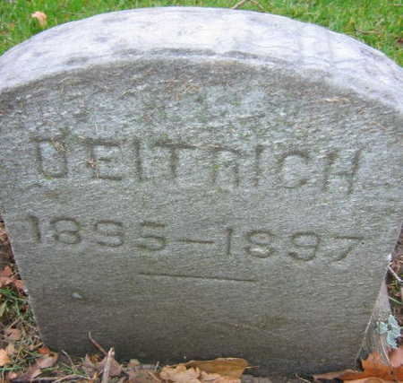 DEITRICH, UNKNOWN CHILD - Linn County, Iowa   UNKNOWN CHILD DEITRICH