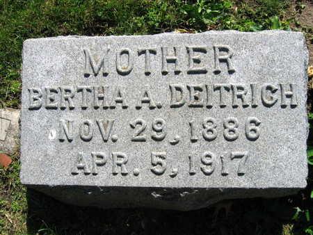 DEITRICH, BERTHA A. - Linn County, Iowa   BERTHA A. DEITRICH