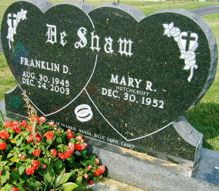 DESHAW, FRANKLIN D. - Linn County, Iowa | FRANKLIN D. DESHAW