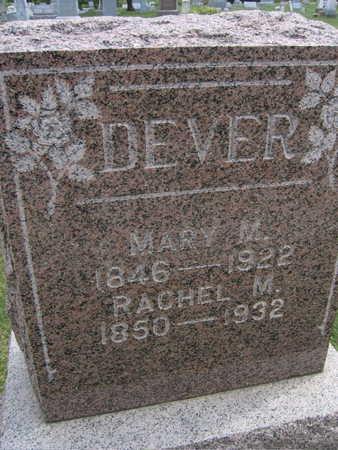 DEVER, RACHEL M. - Linn County, Iowa   RACHEL M. DEVER