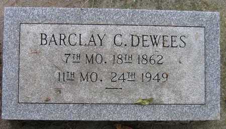 DEWEES, BARCLAY C. - Linn County, Iowa | BARCLAY C. DEWEES