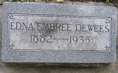 EMBREE DEWEES, EDNA - Linn County, Iowa | EDNA EMBREE DEWEES