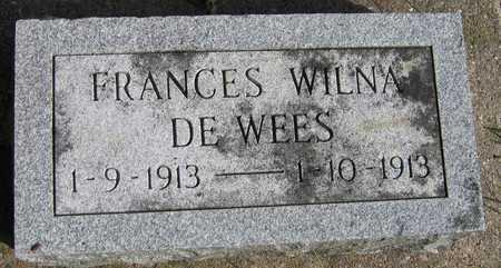 DE WEES, FRANCES WILNA - Linn County, Iowa   FRANCES WILNA DE WEES