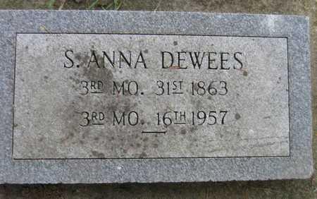 DEWEES, S. ANNA - Linn County, Iowa | S. ANNA DEWEES