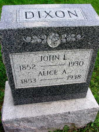 DIXON, JOHN E. - Linn County, Iowa | JOHN E. DIXON