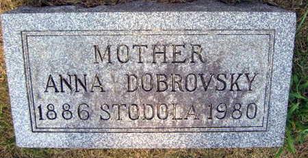 STODOLA DOBROVSKY, ANNA - Linn County, Iowa   ANNA STODOLA DOBROVSKY
