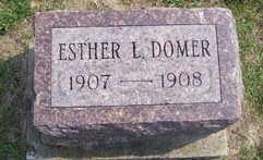 DOMER, ESTHER L. - Linn County, Iowa   ESTHER L. DOMER