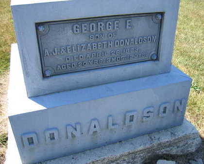 DONALDSON, GEORGE E. - Linn County, Iowa | GEORGE E. DONALDSON