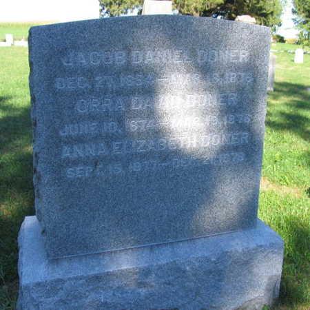 DONER, JACOB DANIEL - Linn County, Iowa | JACOB DANIEL DONER