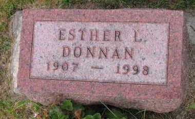 DONNAN, ESTHER L. - Linn County, Iowa   ESTHER L. DONNAN