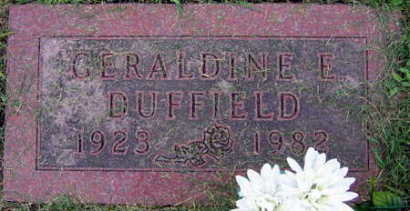 DUFFIELD, GERALDINE E. - Linn County, Iowa | GERALDINE E. DUFFIELD