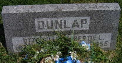 DUNLAP, BERTIE L. - Linn County, Iowa | BERTIE L. DUNLAP