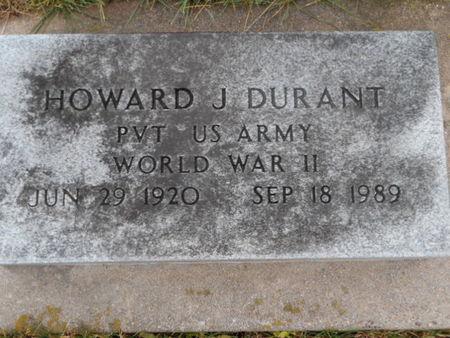 DURANT, HOWARD J. - Linn County, Iowa   HOWARD J. DURANT