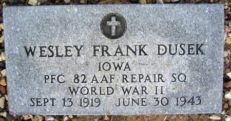 DUSEK, WESLEY FRANK - Linn County, Iowa | WESLEY FRANK DUSEK