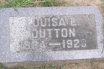 DUTTON, LOUISA L. - Linn County, Iowa   LOUISA L. DUTTON