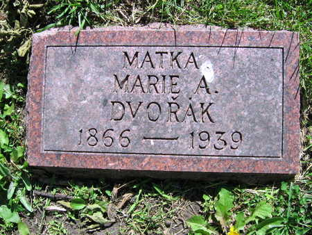 DVORAK, MARIE A. - Linn County, Iowa | MARIE A. DVORAK