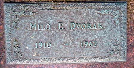 DVORAK, MILO E. - Linn County, Iowa   MILO E. DVORAK