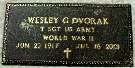 DVORAK, WESLEY G. - Linn County, Iowa   WESLEY G. DVORAK