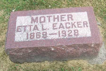 EACKER, ETTA L. - Linn County, Iowa   ETTA L. EACKER
