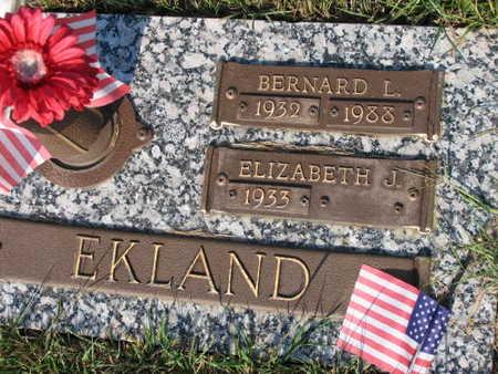 EKLAND, BERNARD L. - Linn County, Iowa | BERNARD L. EKLAND