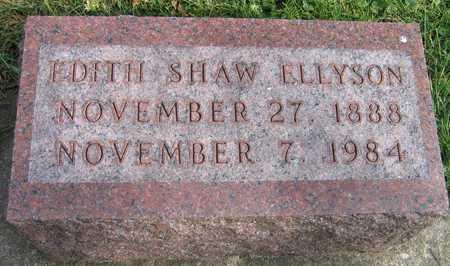 SHAW ELLYSON, EDITH - Linn County, Iowa | EDITH SHAW ELLYSON