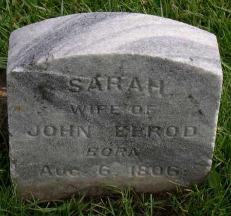 ELROD, SARAH - Linn County, Iowa   SARAH ELROD