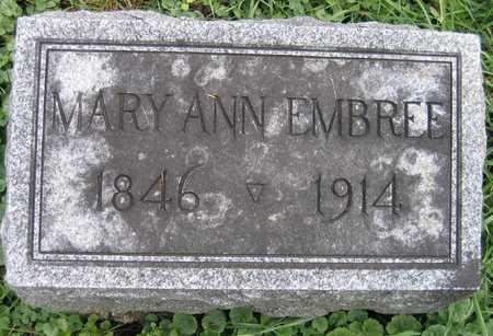 EMBREE, MARY ANN - Linn County, Iowa | MARY ANN EMBREE