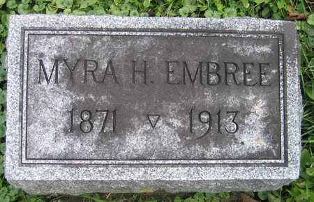 EMBREE, MYRA H. - Linn County, Iowa   MYRA H. EMBREE