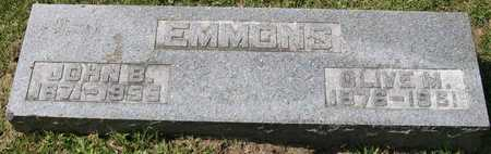 EMMONS, OLIVE M. - Linn County, Iowa   OLIVE M. EMMONS