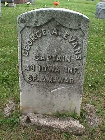 EVANS, GEORGE A. - Linn County, Iowa   GEORGE A. EVANS