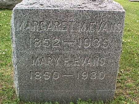EVANS, MARY F. - Linn County, Iowa   MARY F. EVANS