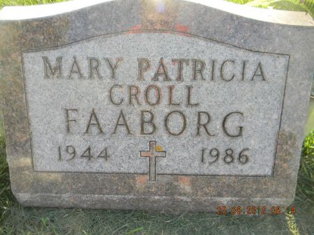 CROLL FAABORG, MARY PATRICIA - Linn County, Iowa | MARY PATRICIA CROLL FAABORG