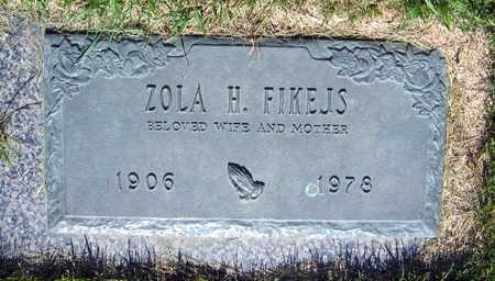 FIKEJS, ZOLA H. - Linn County, Iowa   ZOLA H. FIKEJS