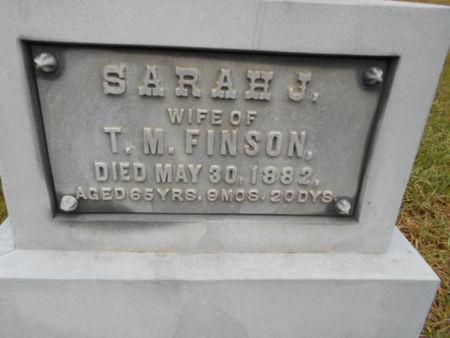 FINSON, SARAH J. - Linn County, Iowa   SARAH J. FINSON