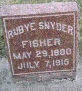 SNYDER FISHER, RUBYE - Linn County, Iowa | RUBYE SNYDER FISHER