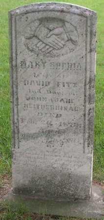 NEITDERHISAR FITZ, MARY SOPHIA - Linn County, Iowa | MARY SOPHIA NEITDERHISAR FITZ