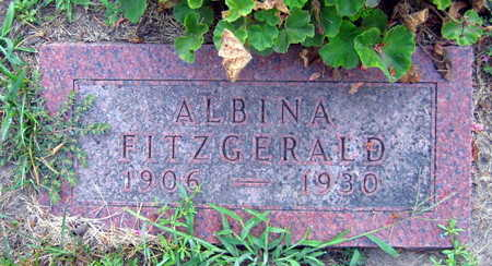 FITZGERALD, ALBINA - Linn County, Iowa | ALBINA FITZGERALD