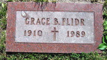 FLIDR, GRACE B. - Linn County, Iowa   GRACE B. FLIDR