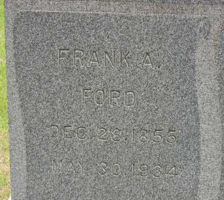 FORD, FRANK A. - Linn County, Iowa | FRANK A. FORD