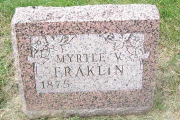 FRAKLIN, MYRTLE V. - Linn County, Iowa | MYRTLE V. FRAKLIN