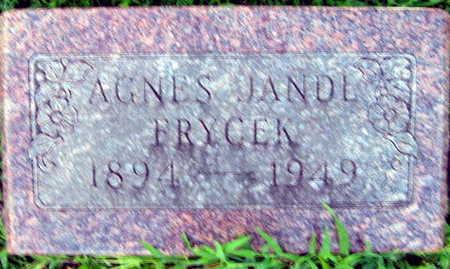 JANDL FRYCEK, AGNES - Linn County, Iowa | AGNES JANDL FRYCEK