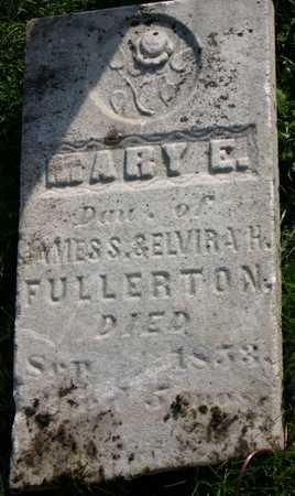 FULLERTON, MARY E. - Linn County, Iowa | MARY E. FULLERTON